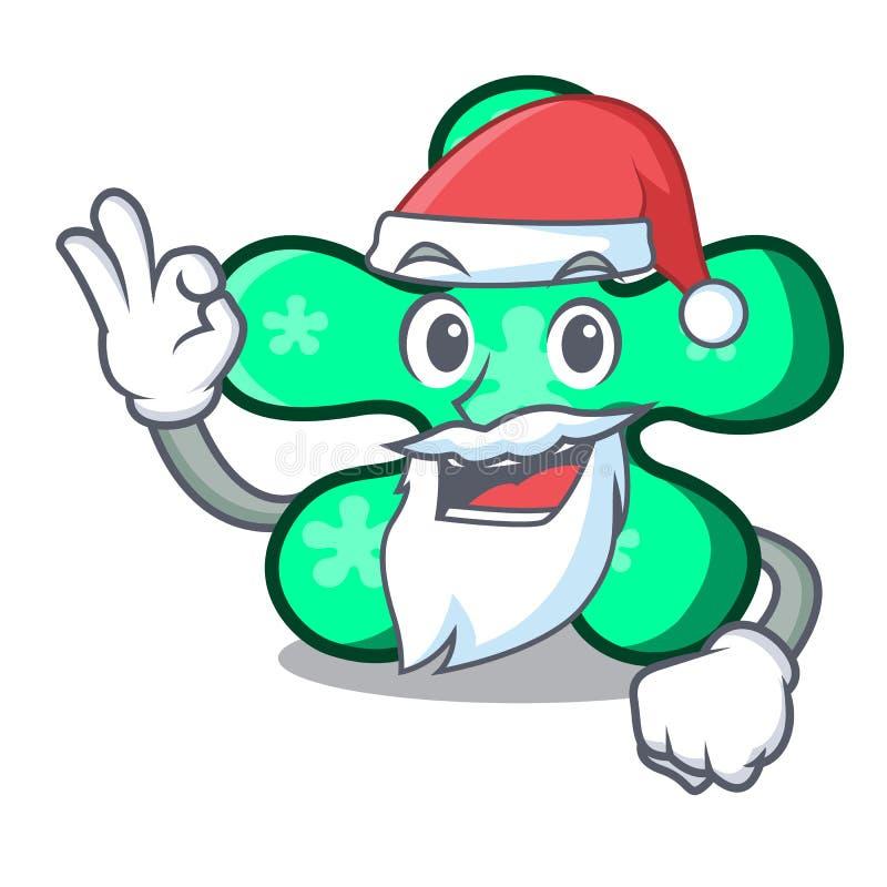 Desenhos animados de forma livre da mascote de Santa ilustração do vetor