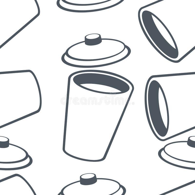 Desenhos animados de painel do vidro de teste padrão ilustração royalty free