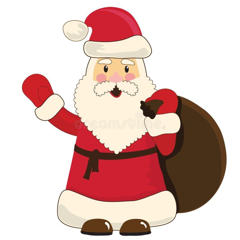 Desenhos animados de Papai Noel ilustração stock