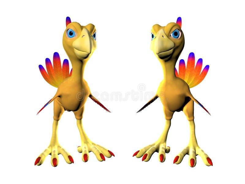 Desenhos animados de Phoenix ilustração royalty free