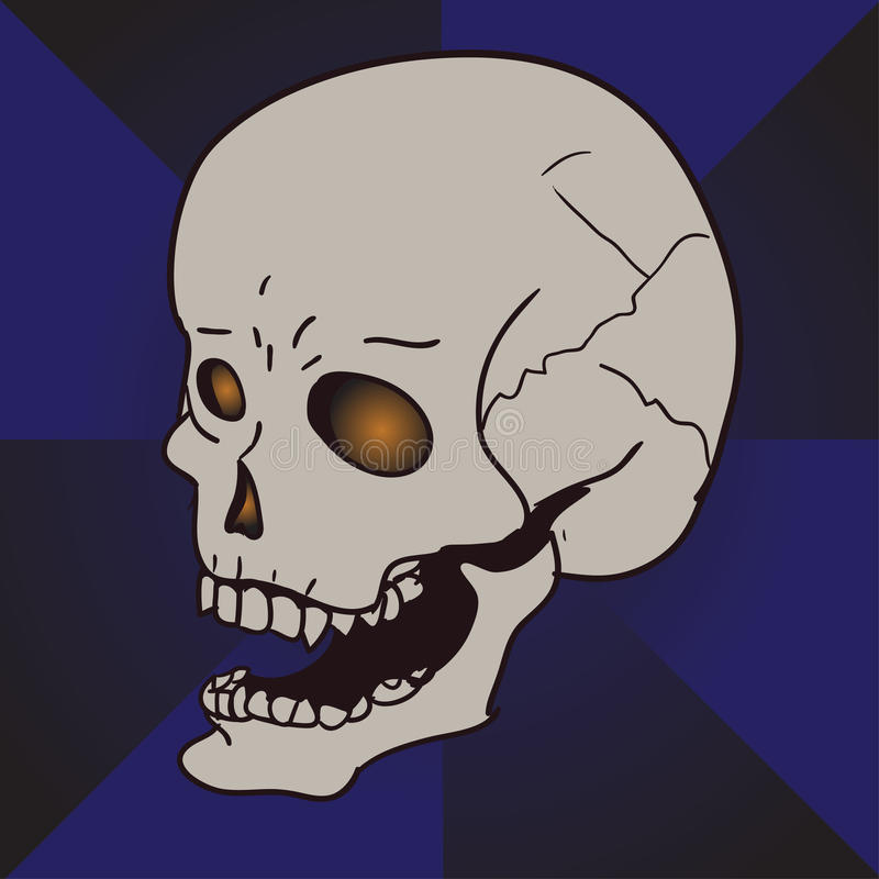 desenhos animados de riso do crânio imagem de stock royalty free