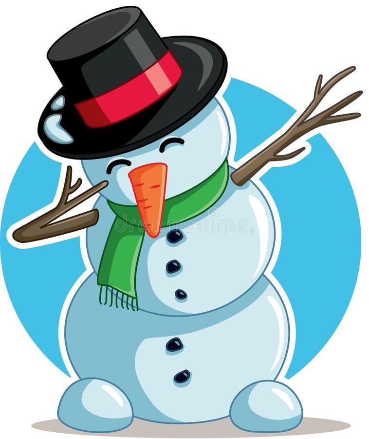 Desenhos Animados Felizes Do Vetor Do Inverno Do Boneco De Neve