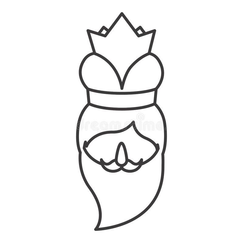 Desenhos animados de Wiseman do projeto do esmagamento ilustração do vetor