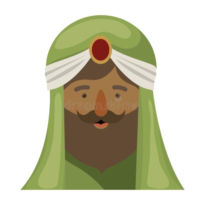 Desenhos animados de Wiseman do projeto feliz do dia do esmagamento ilustração royalty free