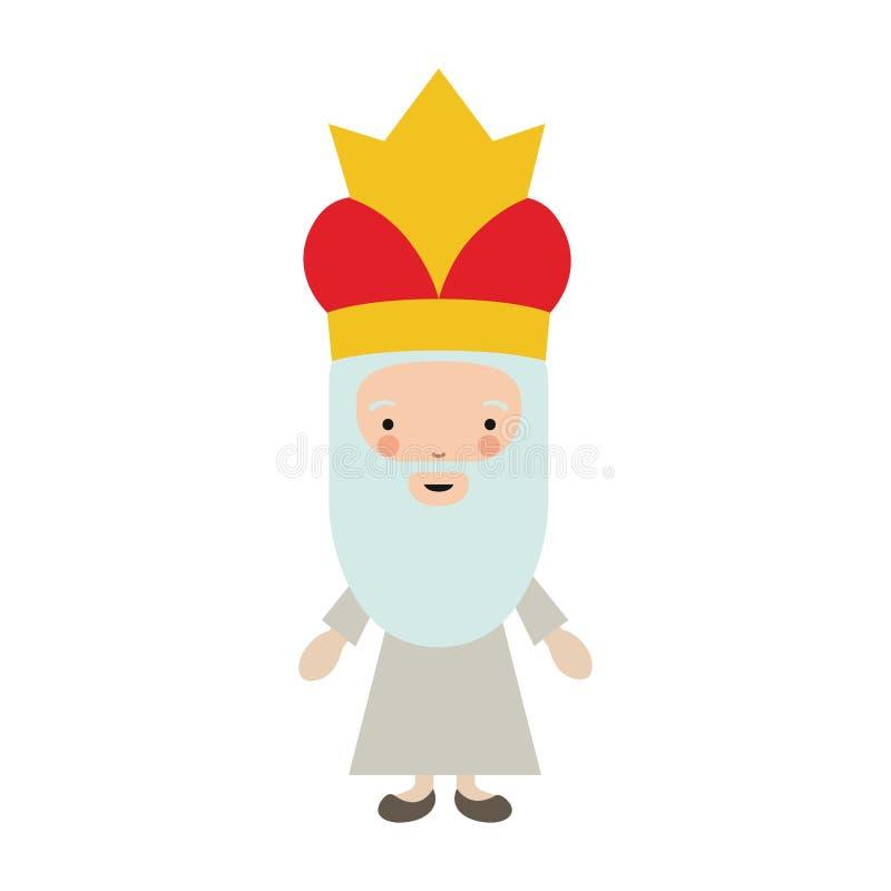 Desenhos animados de Wiseman do projeto feliz do dia do esmagamento ilustração stock