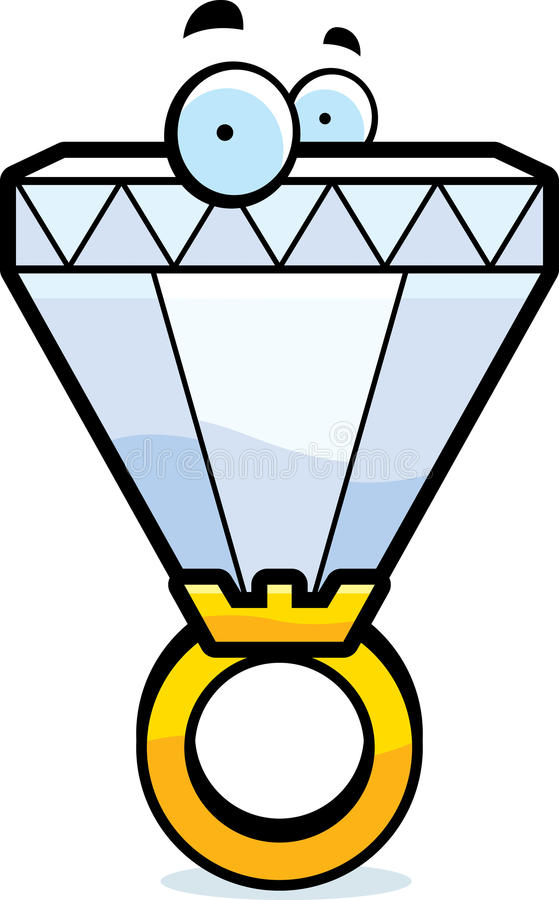 Desenhos animados Diamond Ring ilustração stock