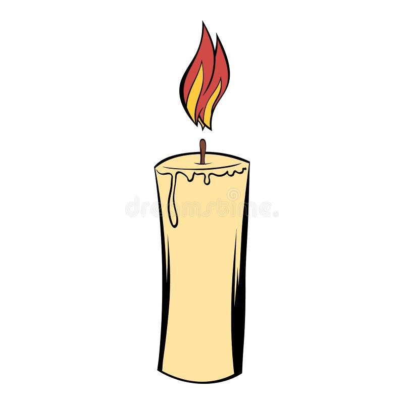 Desenhos animados do ícone da vela ilustração royalty free