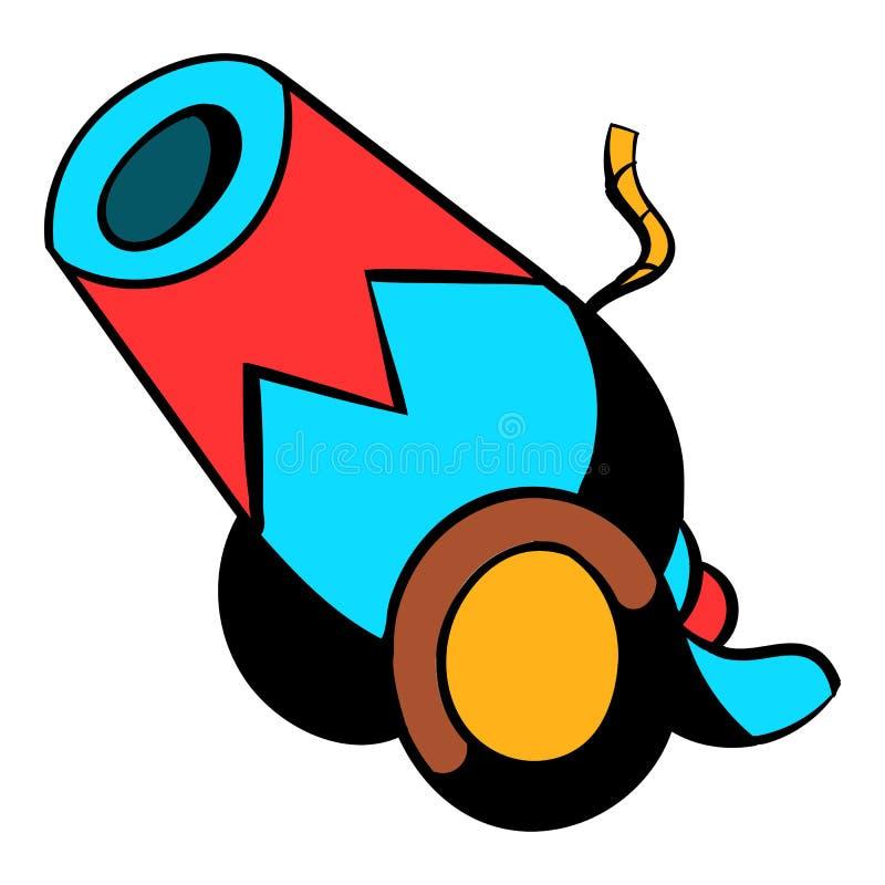 Desenhos animados do ícone do canhão do circo ilustração stock