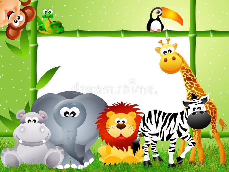 Desenhos animados do animal do safari imagem de stock