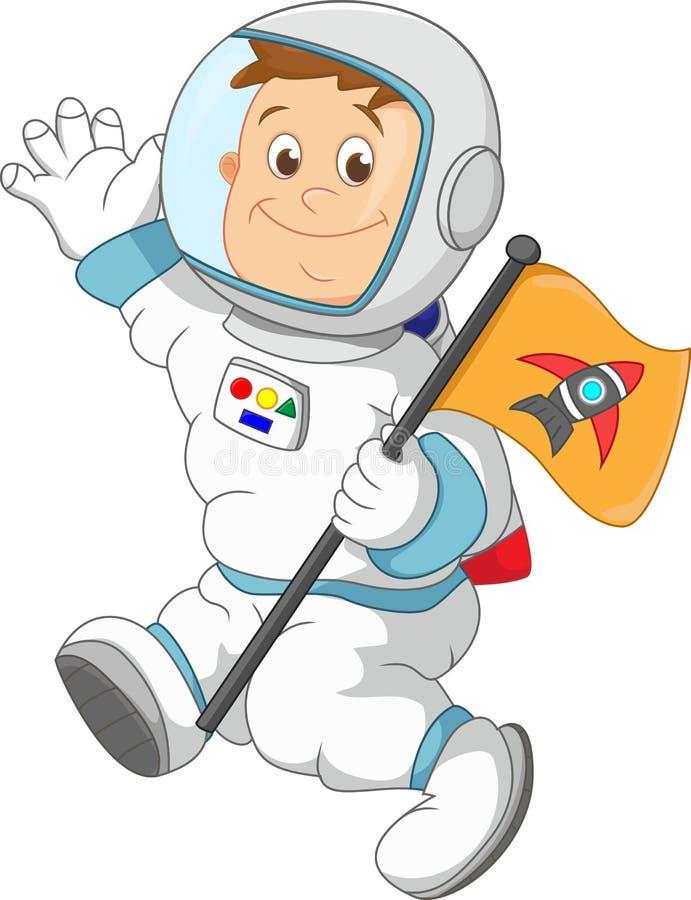 Desenhos animados do astronauta ilustração stock