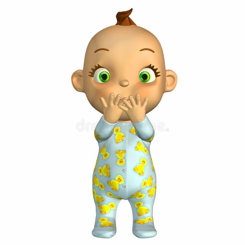 Desenhos animados do bebê surpreendidos ilustração do vetor