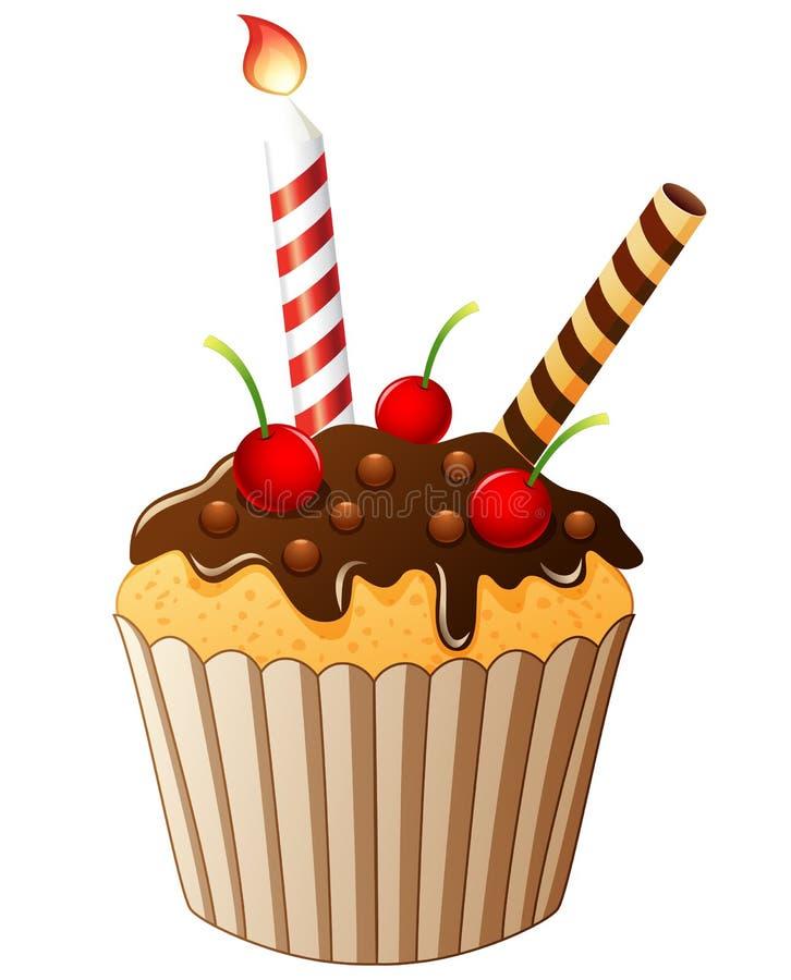 Desenhos animados do bolo de aniversário ilustração stock