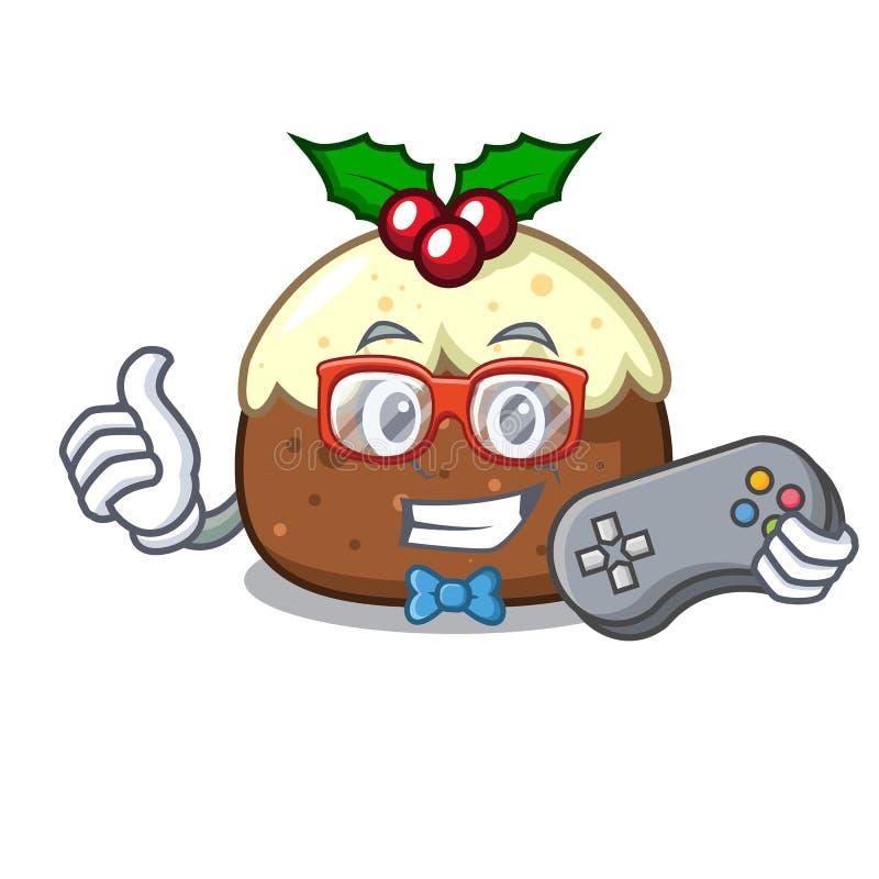 Desenhos animados do caráter do bolo do fruto do Gamer ilustração royalty free