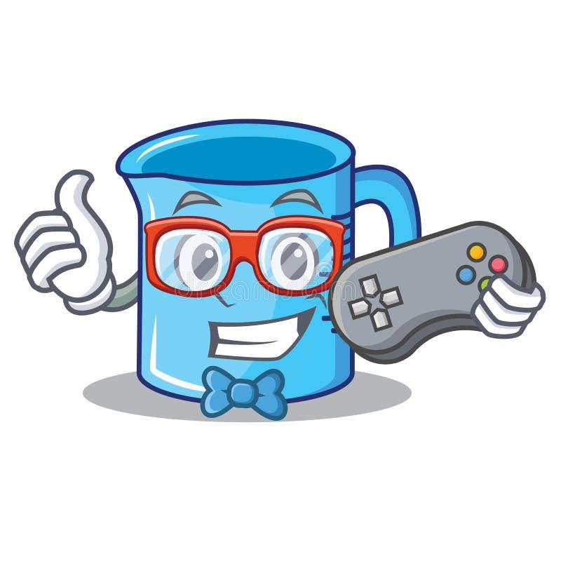 Desenhos animados do caráter do copo de medição do Gamer ilustração royalty free