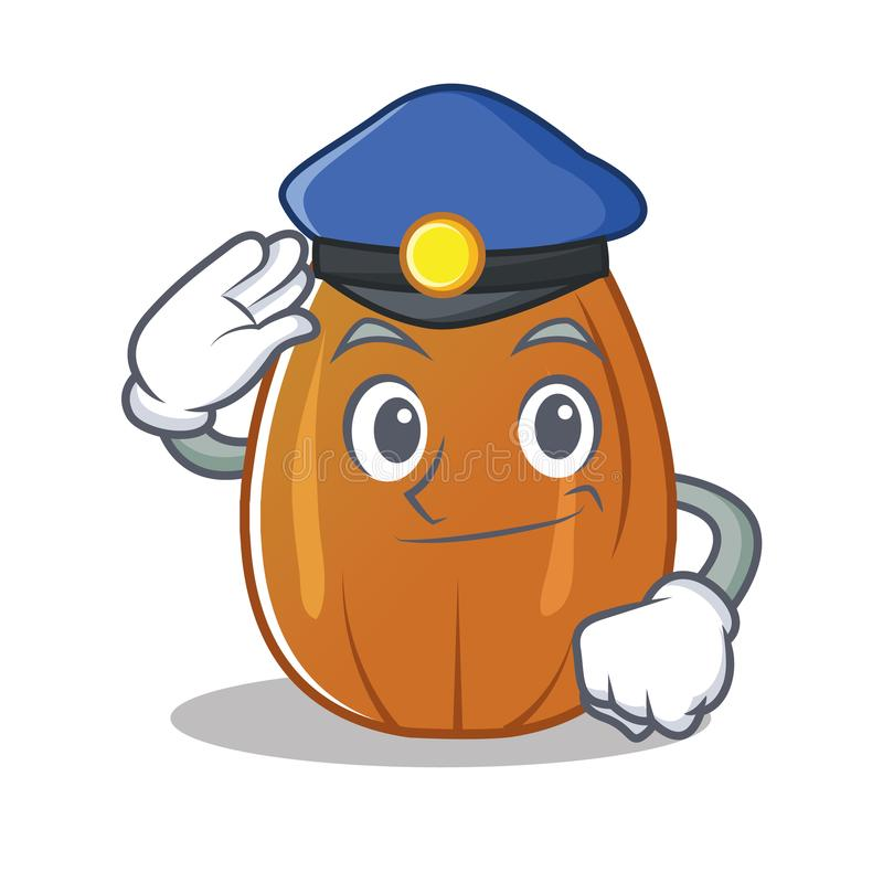 Desenhos animados do caráter da porca da amêndoa da polícia ilustração royalty free