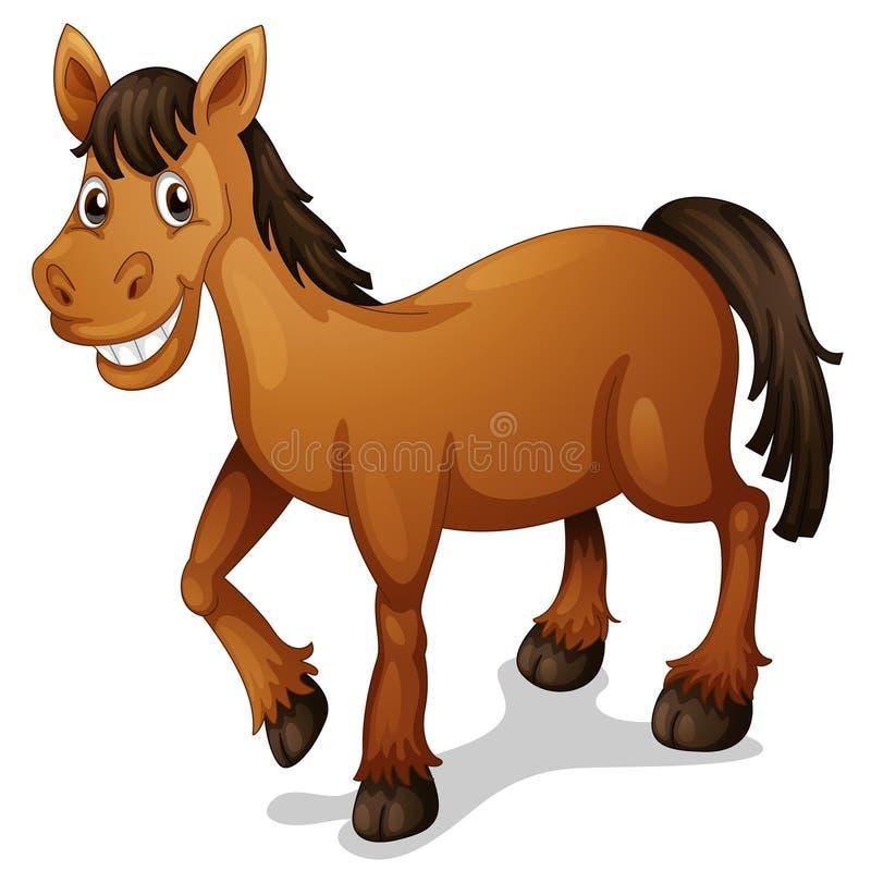 Desenhos animados do cavalo ilustração do vetor