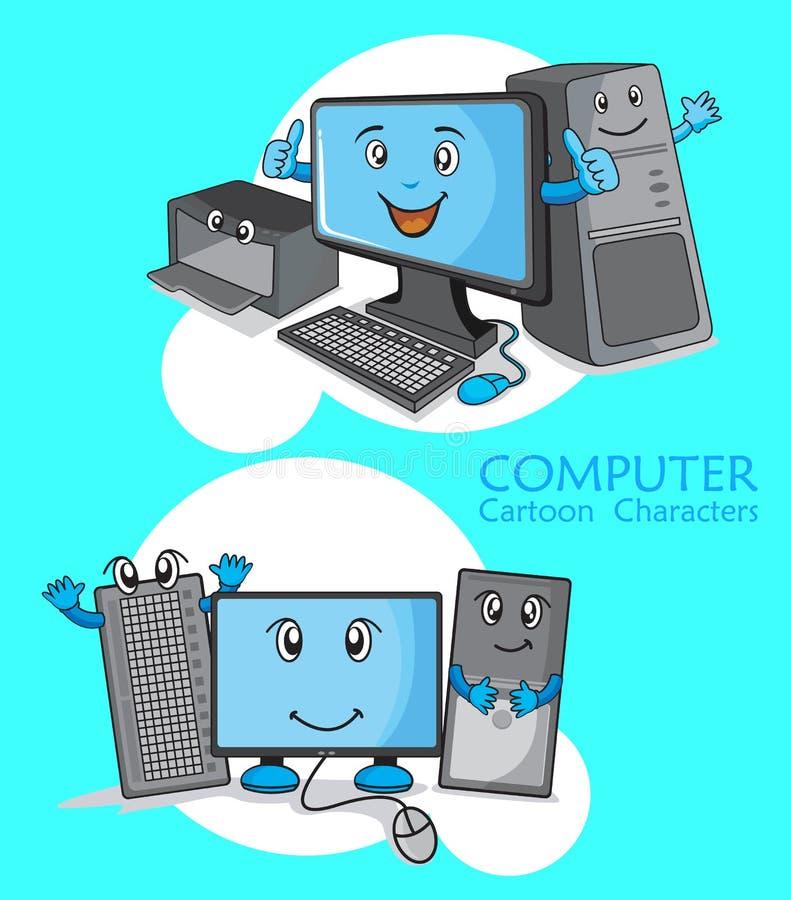 Desenhos animados do computador ilustração stock