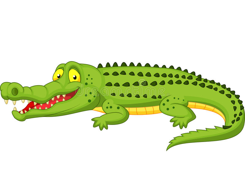 Desenhos animados do crocodilo ilustração do vetor