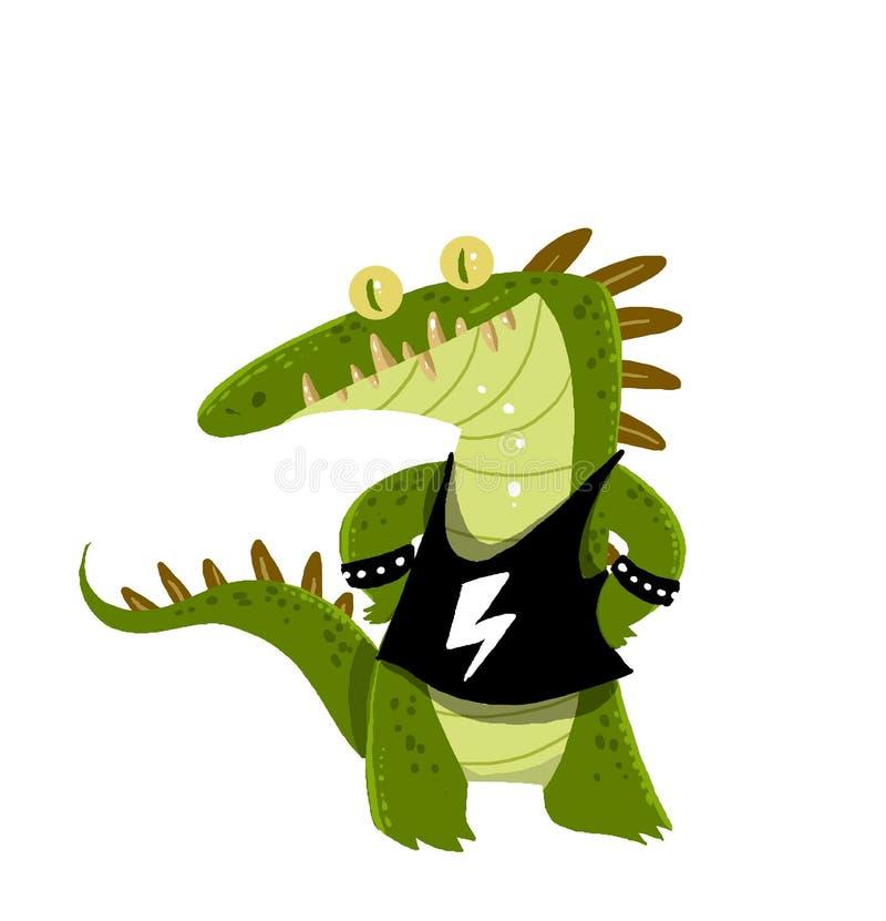 Desenhos animados do crocodilo fotografia de stock royalty free