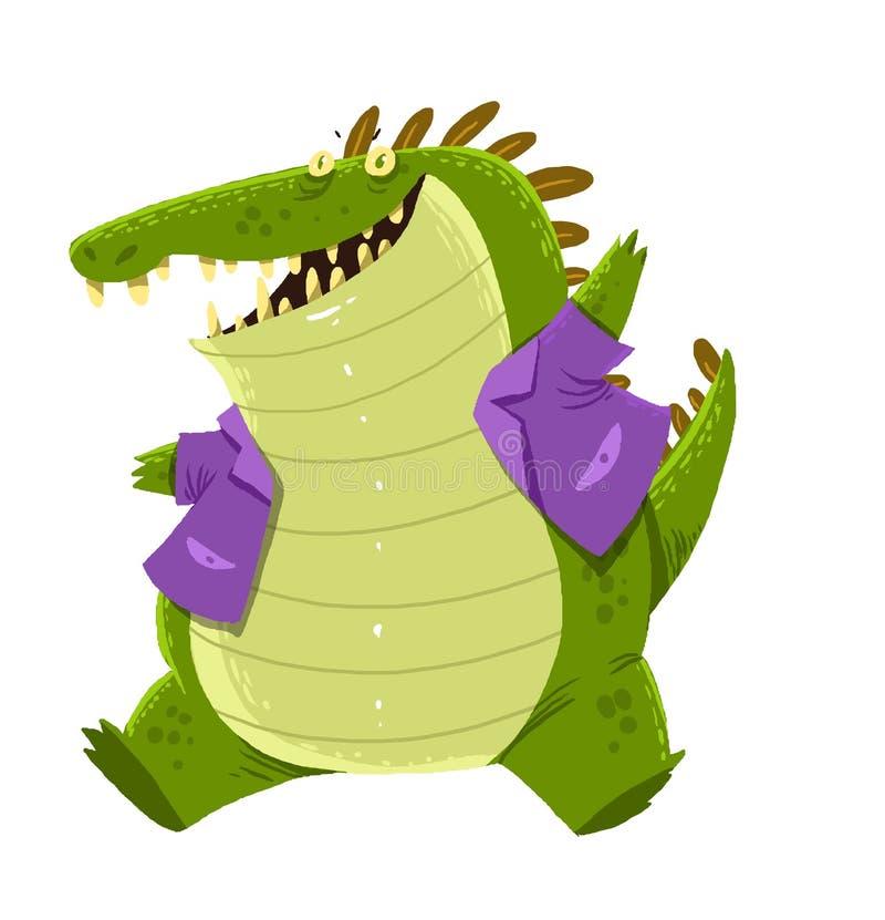 Desenhos animados do crocodilo imagem de stock