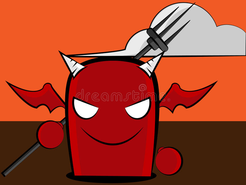 desenhos animados do diabo ilustração royalty free