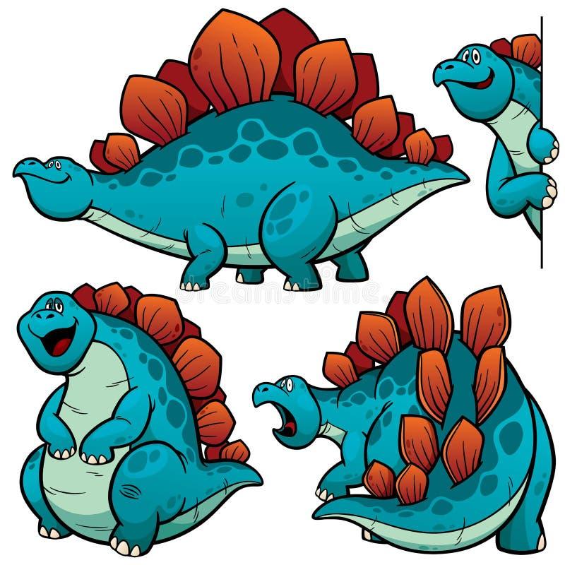 Desenhos animados do dinossauro ilustração do vetor