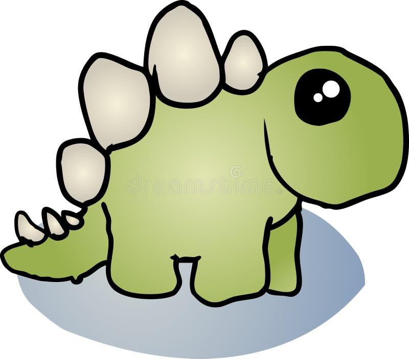 Desenhos Animados Do Dinossauro Do Stegosaurus Fotos de Stock