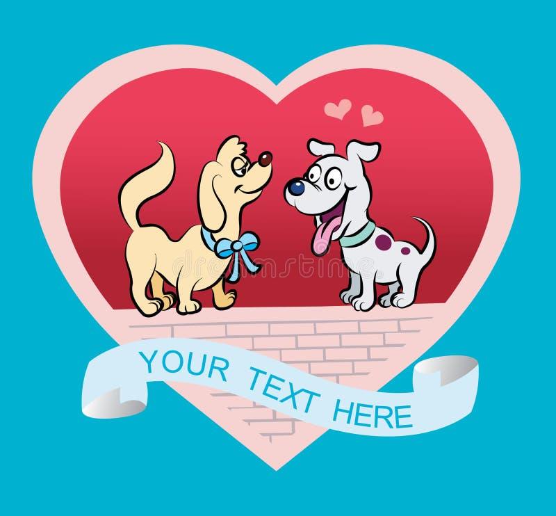 Desenhos animados do Doggy ilustração royalty free