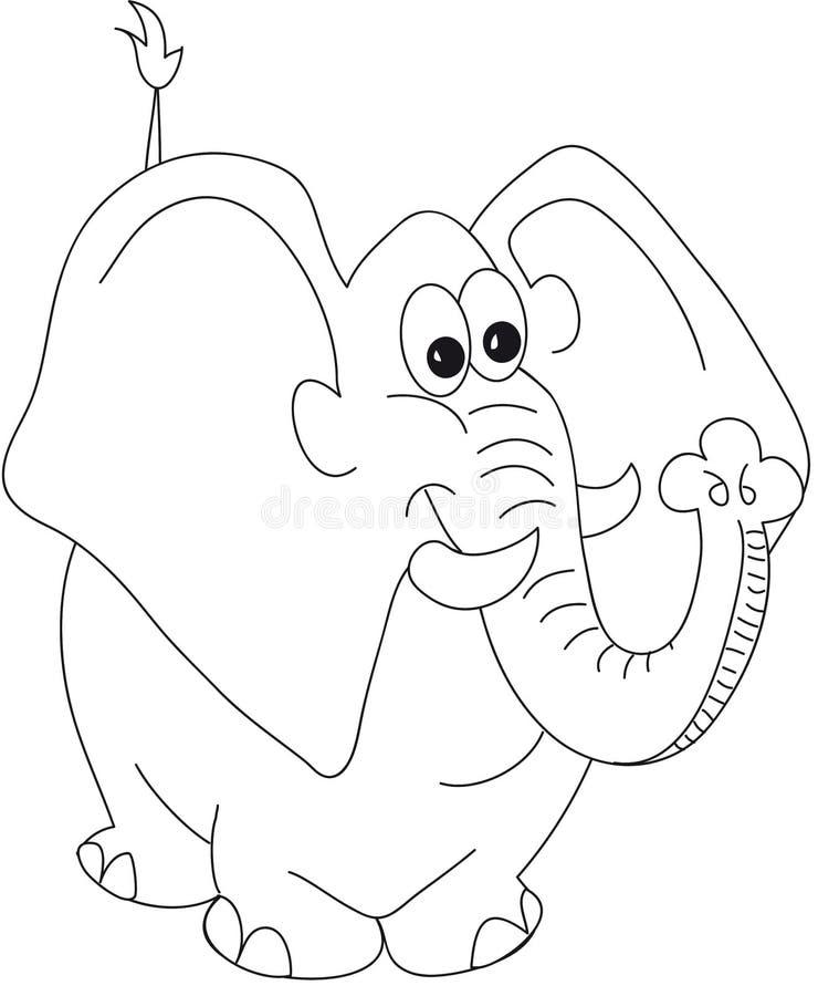 Desenhos animados do elefante ilustração stock