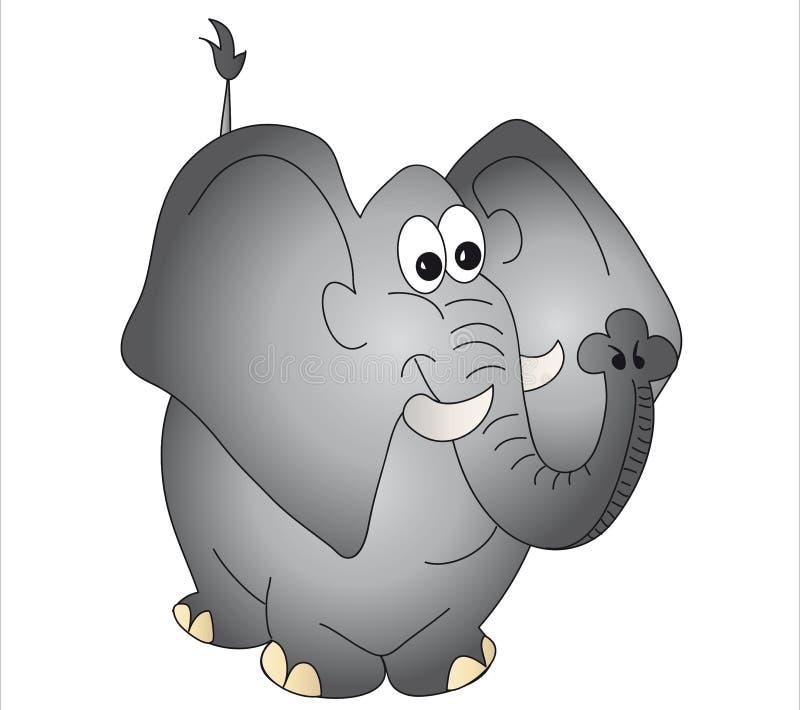 Desenhos animados do elefante ilustração do vetor
