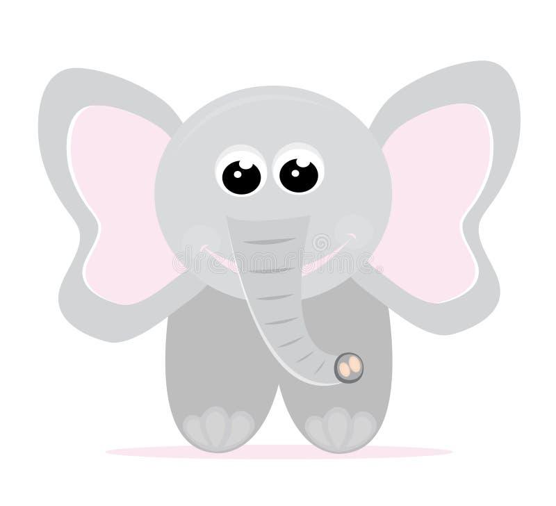 Desenhos animados do elefante do bebê ilustração do vetor