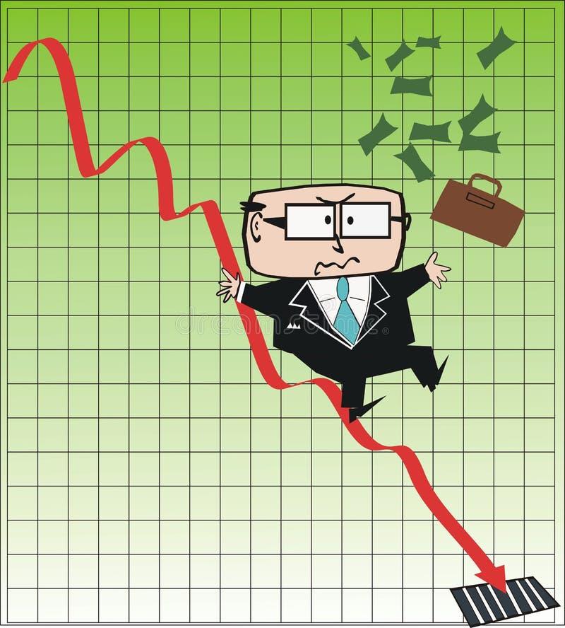 Desenhos animados do executivo empresarial ilustração do vetor