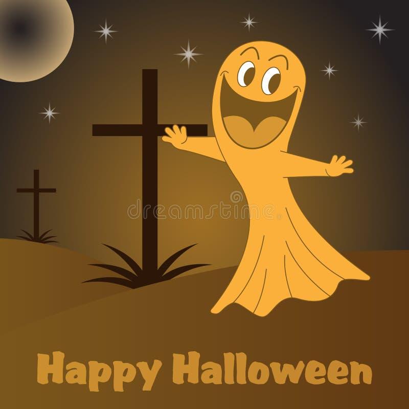 Desenhos Animados Do Fantasma De Halloween Imagens de Stock Royalty Free