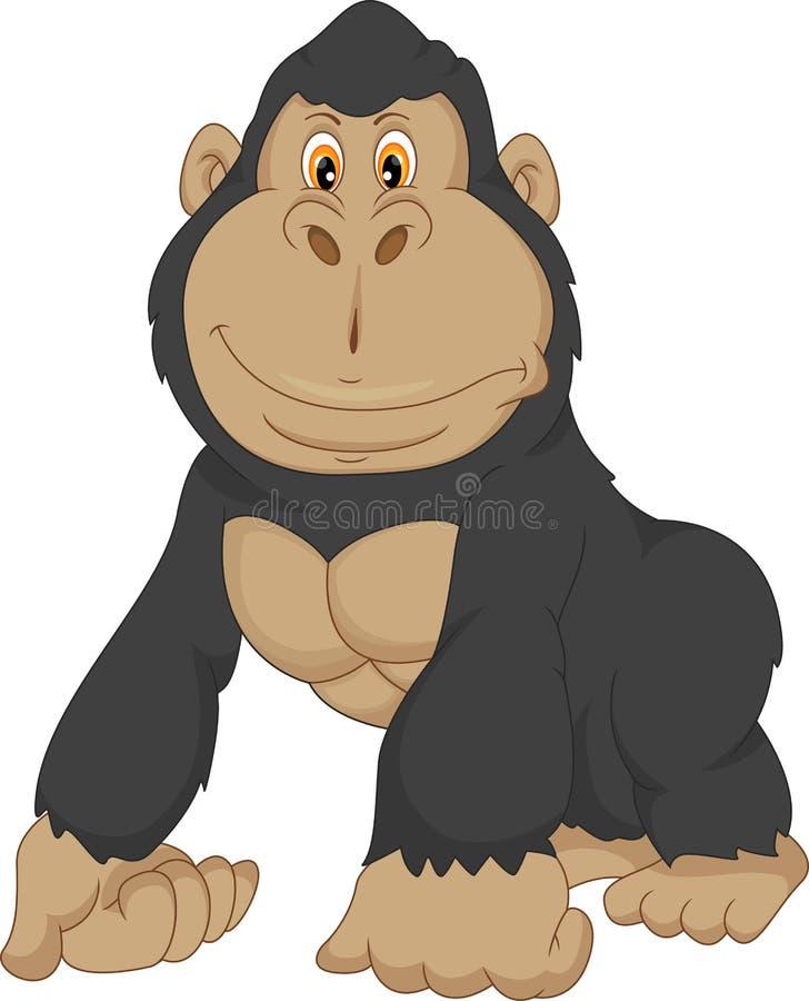 Desenhos animados do gorila do bebê ilustração stock