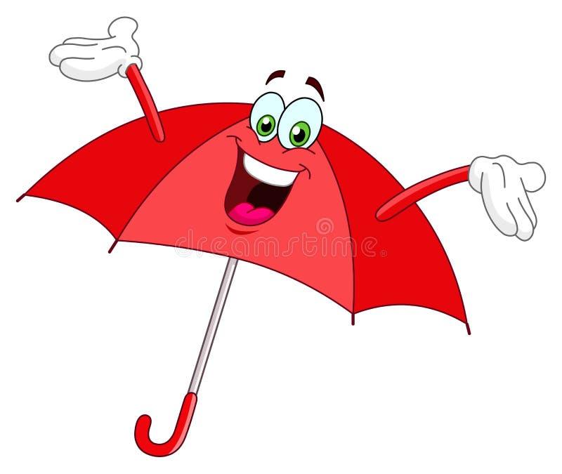 Desenhos animados do guarda-chuva ilustração stock