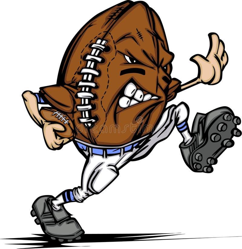 Desenhos animados do jogador da esfera do futebol americano ilustração stock
