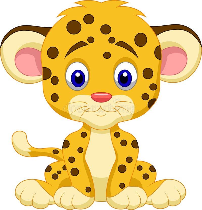 Desenhos animados do leopardo do bebê ilustração royalty free