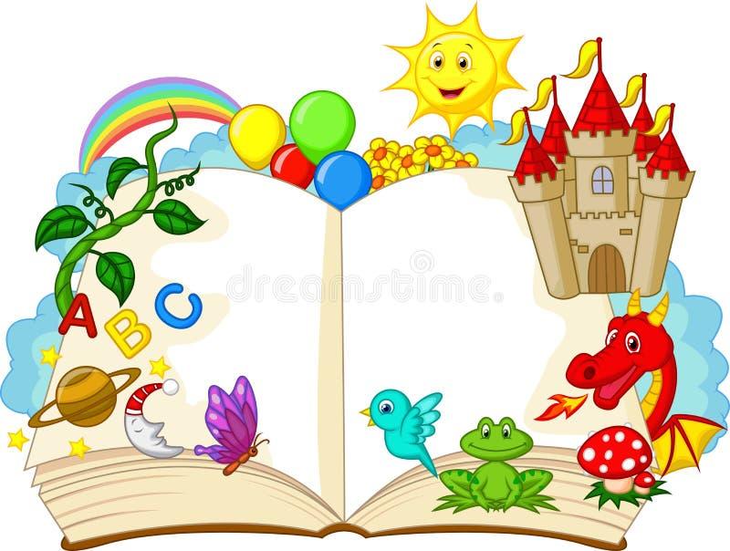 Desenhos animados do livro da fantasia ilustração royalty free
