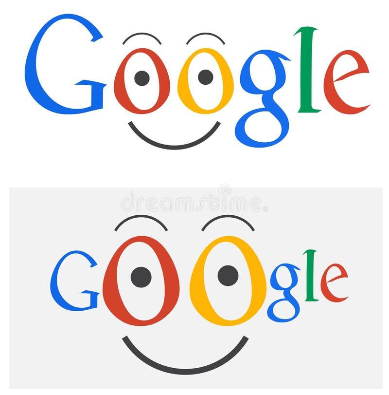 Desenhos animados do logotipo de Google ilustração do vetor
