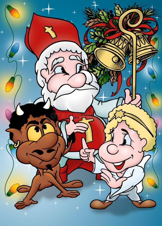 Desenhos animados do Natal ilustração stock