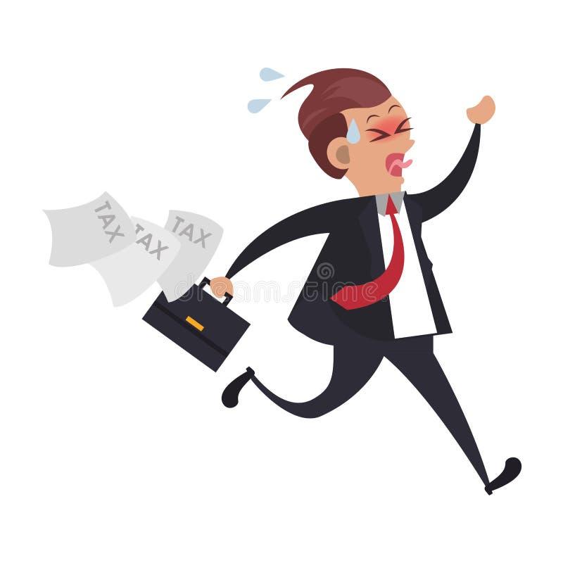 Desenhos animados do negócio dos impostos de governo estadual ilustração royalty free