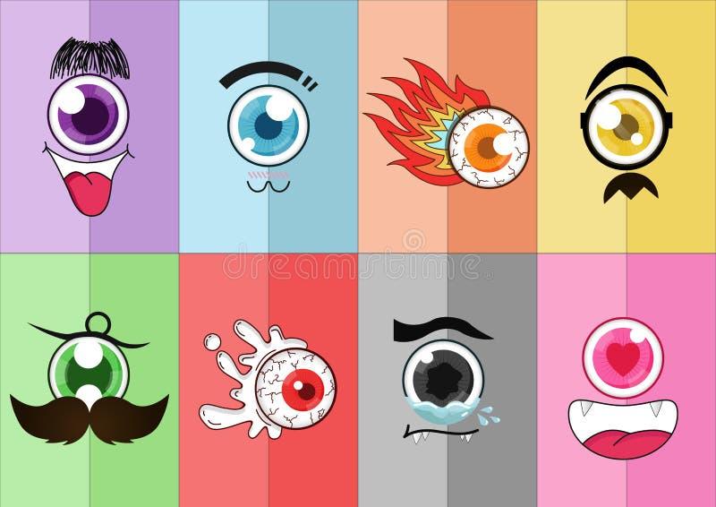 Desenhos animados 01 do olho fotos de stock royalty free