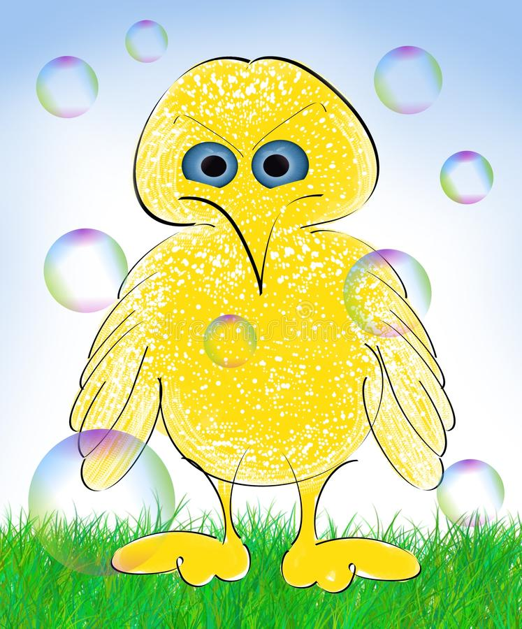 Desenhos animados do pássaro ilustração royalty free