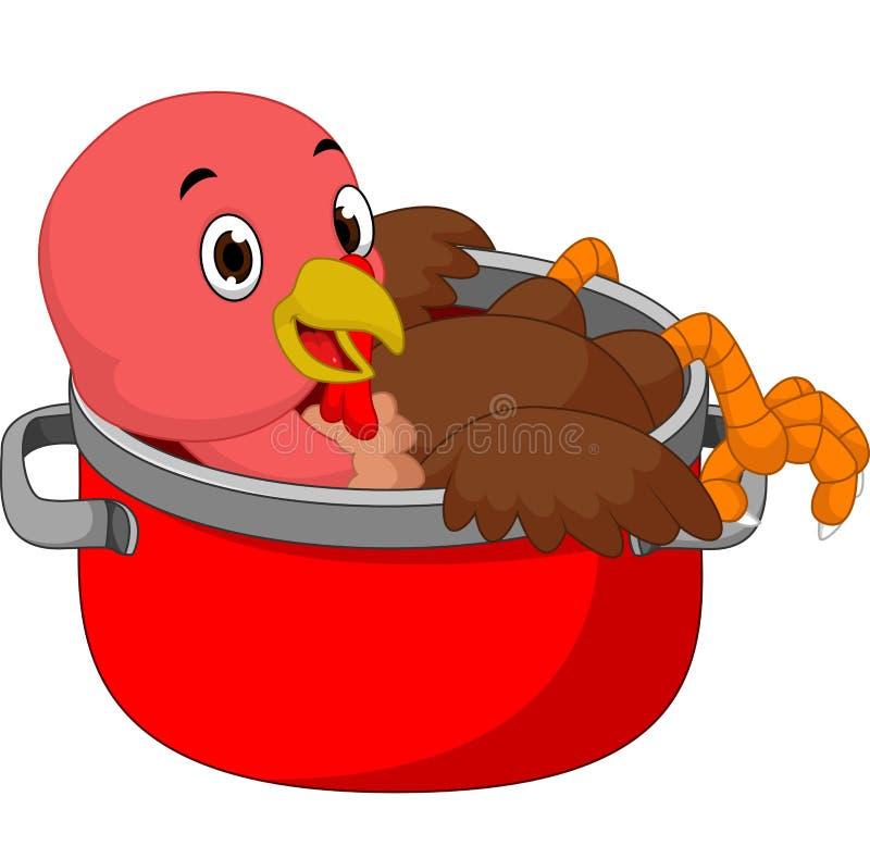 Desenhos animados do pássaro de Turquia ilustração do vetor