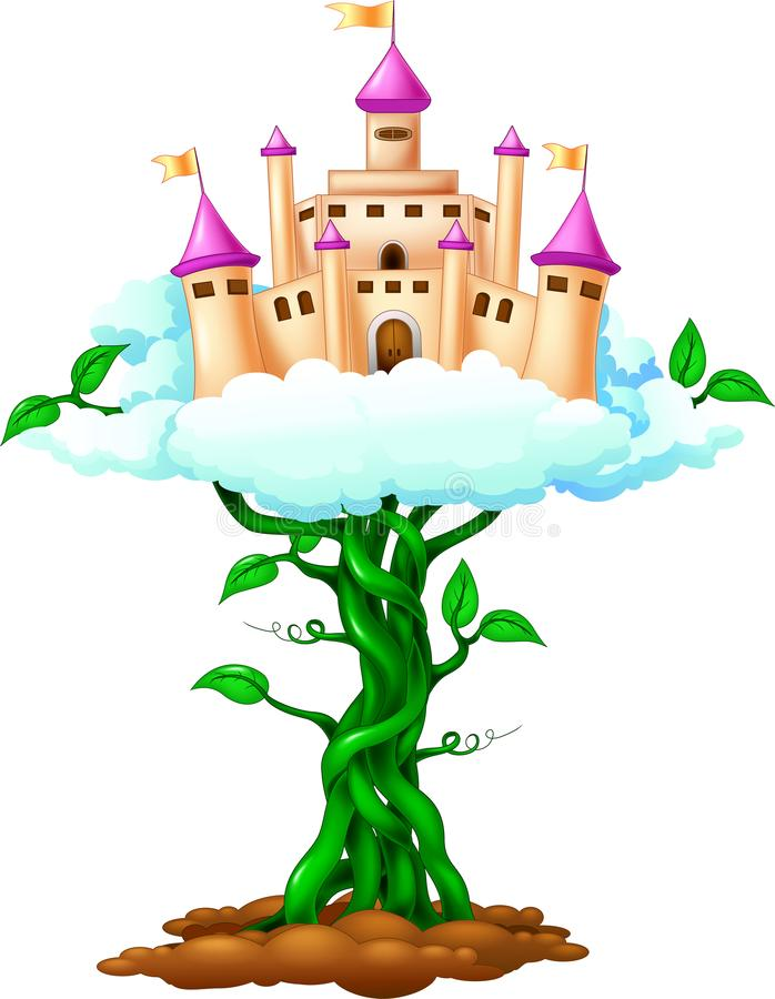 Desenhos animados do palácio da beleza no céu ilustração royalty free