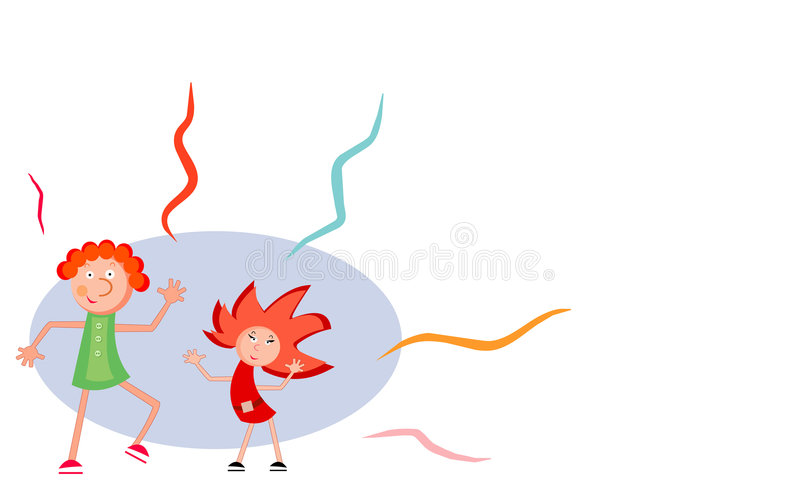 Desenhos animados do partido ilustração stock