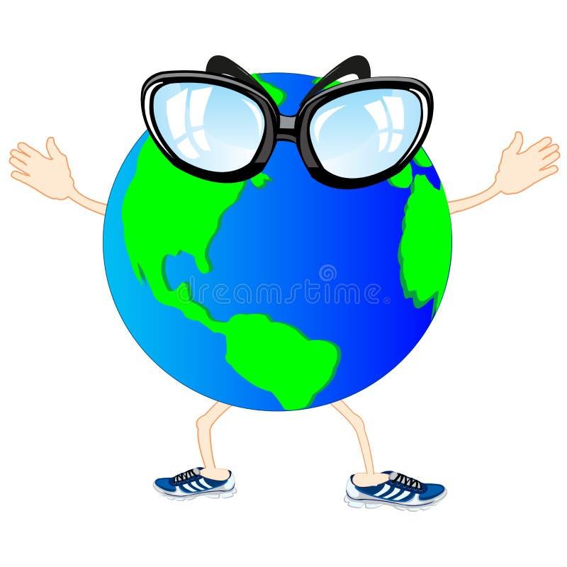 Desenhos animados do planeta vivo ilustração stock