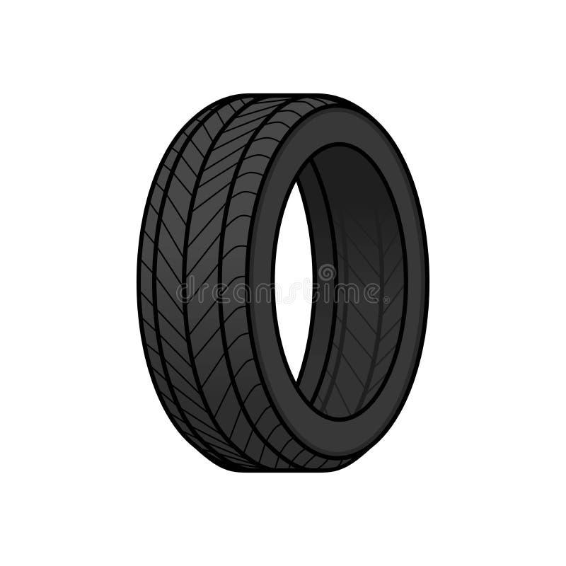 Desenhos animados do pneu ilustração royalty free