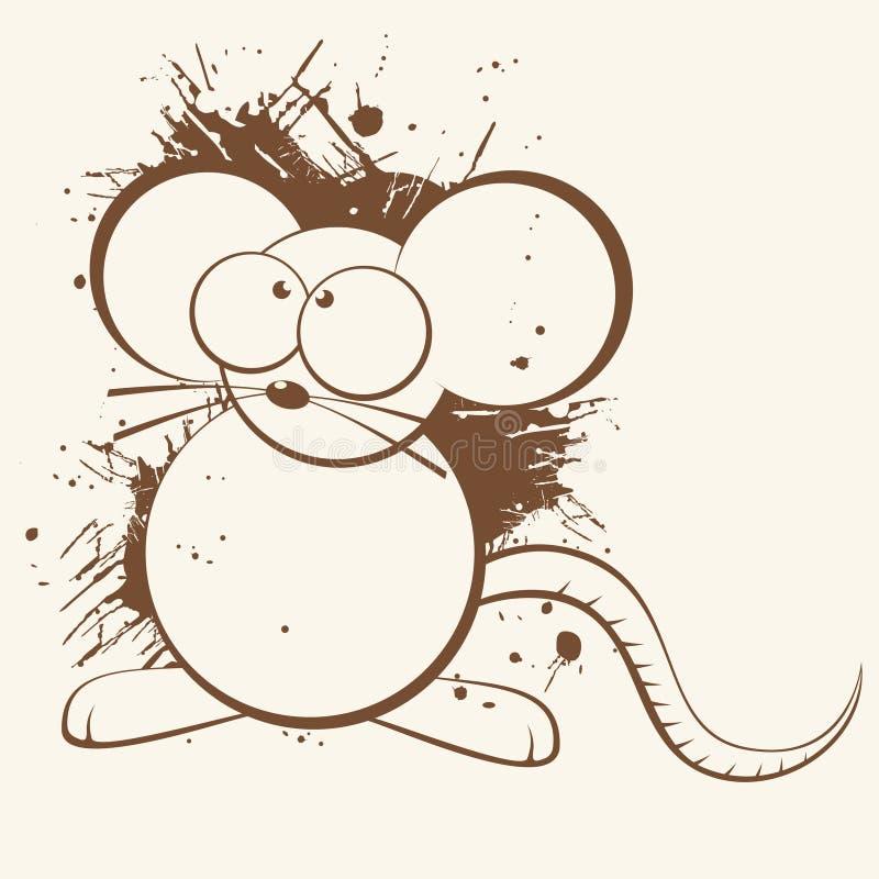 Desenhos animados do rato ilustração royalty free
