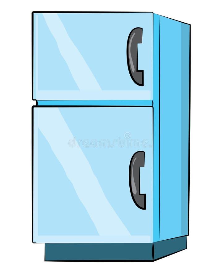Desenhos animados do refrigerador ilustração royalty free